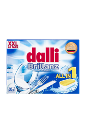DALLI 40szt Brillanz XXL Tabletki do zmywarki
