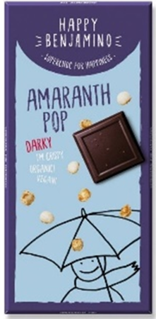 HAPPY BENJAMINO 70g Amaranth Pop Gorzka Czekolada