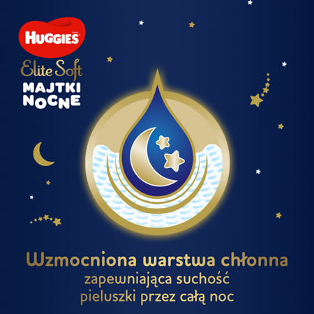 HUGGIES 19szt Elite Soft Overnights Pants 4 (9-14kg) Pieluchomajtki