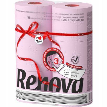 Papier toaletowy RENOVA Red Label Maxi ROSE  6 szt.