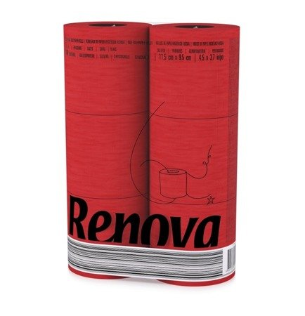 Papier toaletowy RENOVA Red Label Red 6 szt.